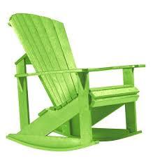 Adirondack Rocking Chairs Essentials Patio Rocker In Green Folding