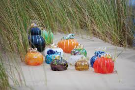 glass pumpkins and gourds by artist patrick cahill