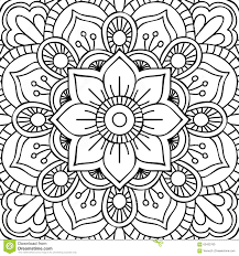 Flower Mandala Coloring Page Free Printable Pages With Viettiinfo