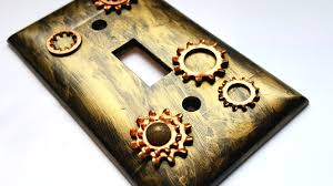 industrial steampunk diy light switch plate cover home decor