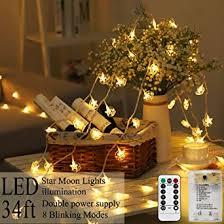 Areskey <b>Star Moon</b> String Lights, 80 <b>LED Moon Star</b> Christmas ...
