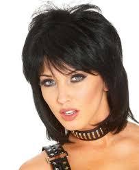 80er Frisuren Selber Machen Party Mittellange Schwarze Haare Stufen