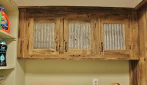 Rustic Upper Cabinet Reclaimed Barn Wood W Tin Doors By Keeriah