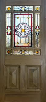 stained glass doors door insert art nouveau front
