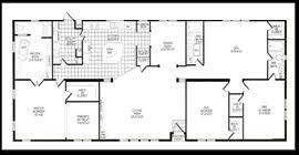 double wide floor plans 4 bedroom 3 bath. Brilliant Plans Throughout Double Wide Floor Plans 4 Bedroom 3 Bath E