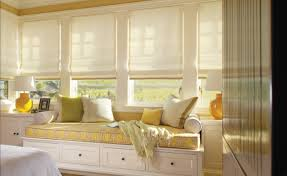 this yellow inspiration fabric on the cushion above helped the homeowner select a wall paint color rugs accessories etc bay window seat cushion