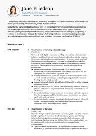 Marketing Resume Template Unique Marketing CV Examples And Template Resume Templates Printable