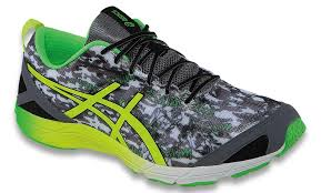 asics yellow black green mens gel hyper tri flash flash running shoes