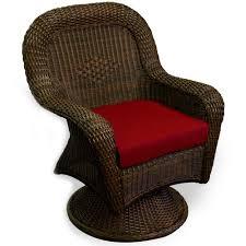 tortuga outdoor sea pines wicker swivel dining chair java wicker
