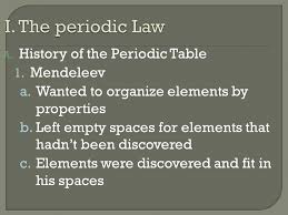 Chp 5 pg 122. A. History of the Periodic Table 1. Mendeleev a ...