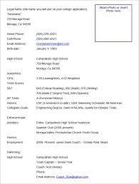 Sports Resume Format Template. Free Download