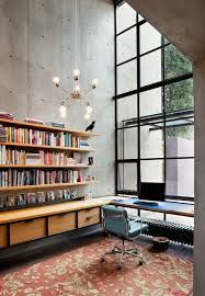 office industrial design. Industrial Design Inspiration Home Office With Blue Task Chair Large Windows M