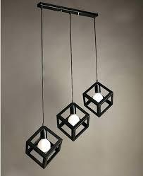 black iron pendant light creative style wrought black iron pendant light square lamp simple lights kitchen black iron pendant light