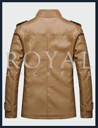 royal jackets slim fit leather jacket for men