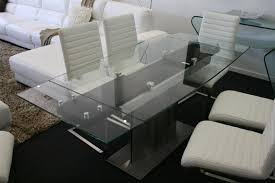 Dining Extension Table Monaco Glass Top Extension Dining Table Glass Tables