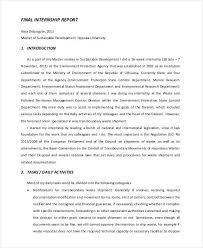 Internship Report Sample Impressive 44 Report Examples PDF