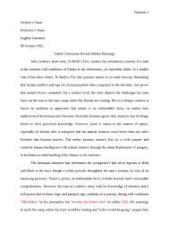 literary analysis essay example short story sample essay outlines  short story analysis essay example the second literary analysis essay example short story
