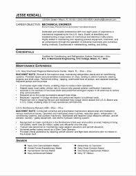 Resume Sample Of Mechanical Maintenance Engineer Best Electrical