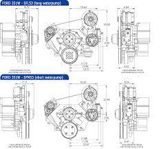 ford small block pulley systems kits concept one ford small block kit alternator and power steering