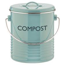 green kitchen compost container