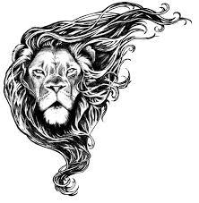 тату эскизы лев