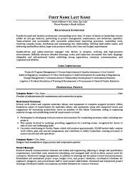 Maintenance Supervisor Resume Template Premium Resume Samples Adorable Maintenance Supervisor Resume