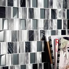 Mosaik Badezimmer Und Dusche In Aluminium Und Glas Ceti Gris Sygma