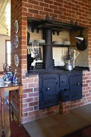 incorporating an antique wood cook stove in modern kitchen - Google Search