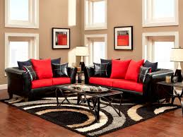 red black home office. Excellence Small Formal Living Room Decorating Ideas Using Black F And Red Fabric Leather Sofa Set Home Office