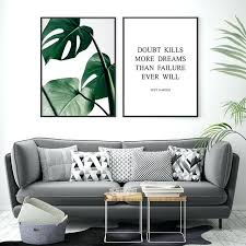 >leaf wall art decor outdoor metal wall decor steel wall art wall  leaf wall art decor green print tropical leaf poster wall art decor believe dreams inspirational quote leaf wall art decor
