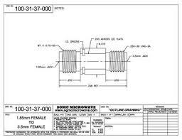 100-31-37-000: 1.85mm FEMALE TO <b>3.5mm FEMALE</b> (BETWEEN ...