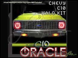 60-67 Chevrolet C10 LED Halo Rings Headlights Bulbs