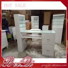 modern manicure table vacuum and nail salon furniture nail table white color