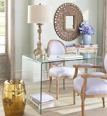 simple elegant home office. Elegant Home Office With Purple Accents Simple