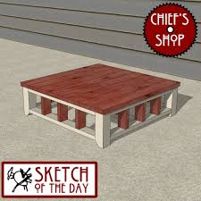 chief s sketch of the day front porch coffee table