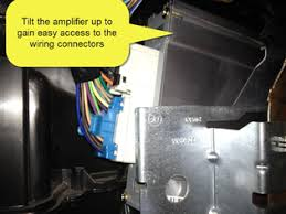 sha bypass factory amp crossover in 2002 chevy tahoe 2002 Chevy Tahoe Factory Amp Wiring Diagram unplug the lower wiring connector from the amplifier there is a release on the back side of the connector, you must depress this release before the plug 99 Chevy Tahoe Wiring Diagram