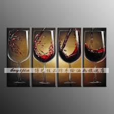 aliexpress com bottle wine glass r6 pure hand painting oil painting abstract painting