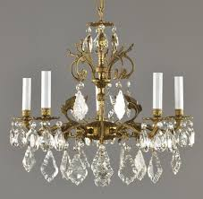 spanish brass crystal chandelier c1950 frances pendant 89 95 french country