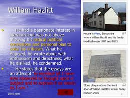 some r tic prose writers charles lamb ppt video online  william hazlitt