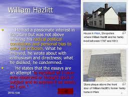 some r tic prose writers charles lamb ppt video online  william hazlitt