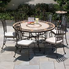 round patio table sets outdoor patio dining sets round compass dining table with wrought