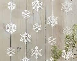 Snowflake Garland, Christmas Decorations, Christmas Party Decor, Christmas  Garland, Snowflake Christmas Decor
