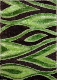lime green and black fur rug with pattern with cream and brown area rugs