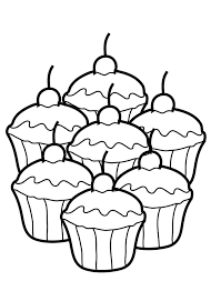 Cupcakes Coloring Book Pages Printable Activity