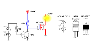 Solar Lights With On Off Switch Auto On Off Light Switch Using A Solar Cell