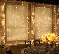 diy curtain lights using led mini string lights