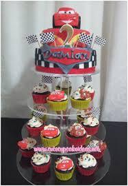 Lightning Mcqueen Cupcake Stand Wonderfully Cars 2 Birthday Cupcakes
