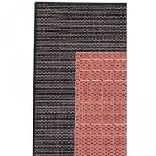 recife checd field terracotta black outdoor rug 8ft 6in square