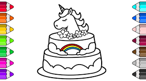 Maxresdefault To Print Unicorn Cake Coloring Pages 7 Futuramame