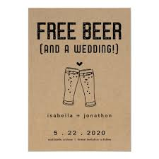 Save The Date Images Free Free Beer Funny Save The Date Card